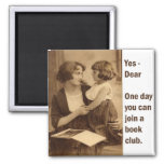 book club mother and daughter 2 inch square magnet