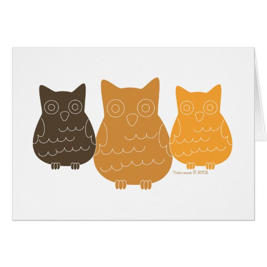 Book Club Owls Card