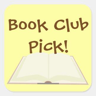 Book Club Pick Promos Square Sticker