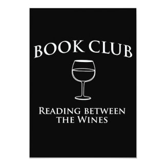 Book Club Reading Between the Wines 5x7 Paper Invitation Card