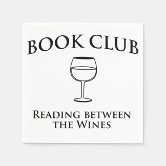 Book Club Reading Between the Wines Napkin