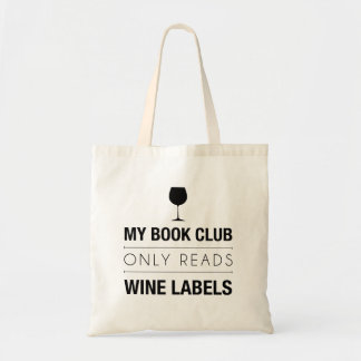Book Club Reads Wine Labels Bag
