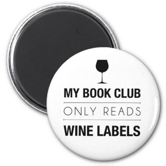 Book Club Reads Wine Labels Magnet