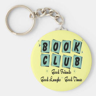 Book Club Retro - Good Friends, Times and Laughs Basic Round Button Keychain