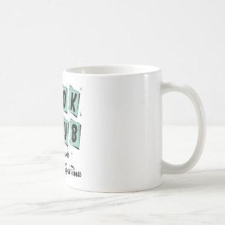Book Club Retro - Good Friends, Times and Laughs Classic White Coffee Mug
