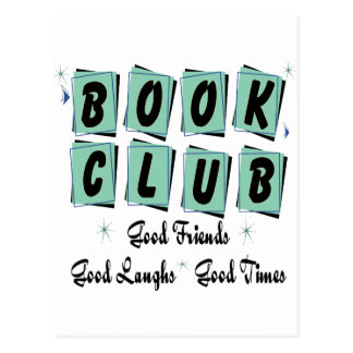 Book Club Retro - Good Friends, Times and Laughs Postcards