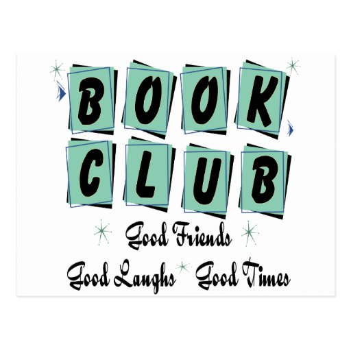 Book Club Retro - Good Friends, Times and Laughs Postcard