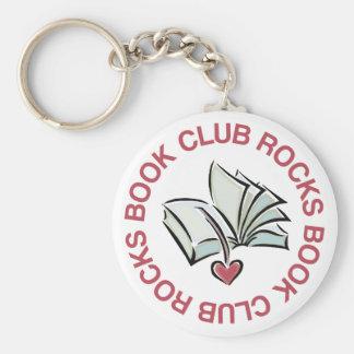 Book Club Rocks Basic Round Button Keychain