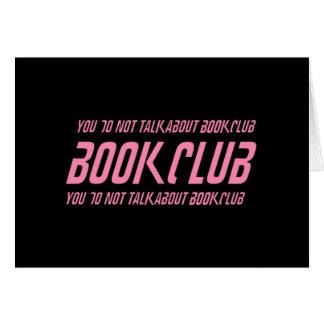Book Club Rules Card