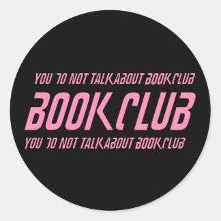 Book Club Rules Classic Round Sticker