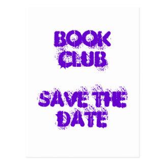Book Club -Save The Date-  Postcard