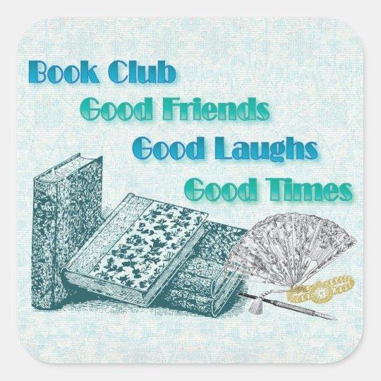 book club square sticker