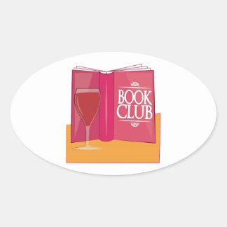 Book Club Oval Sticker