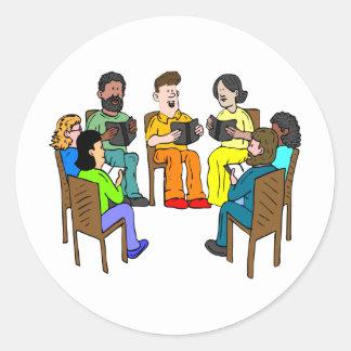 Book Club Classic Round Sticker