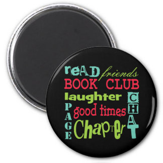 Book Club Subway Design by Artinspired 2 Inch Round Magnet