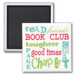 Book Club Subway Design by Artinspired 2 Inch Square Magnet