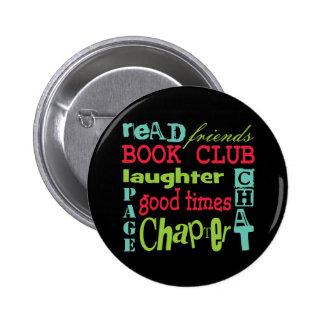 Book Club Subway Design by Artinspired 2 Inch Round Button
