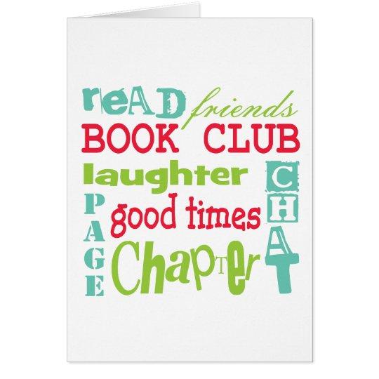 Book Club Subway Design by Artinspired Card