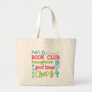 Book Club Subway Design by Artinspired Large Tote Bag