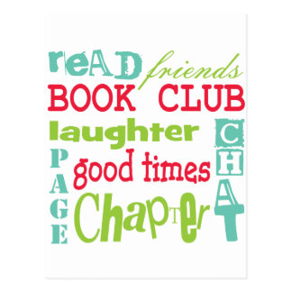 Book Club Subway Design by Artinspired Postcard