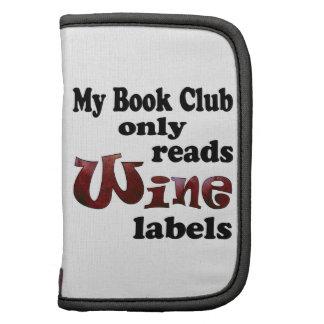 Book Club Wine Labels Folio Planner