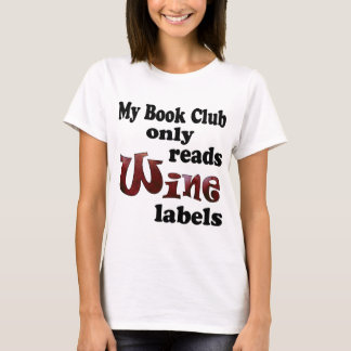 Book Club Wine Labels T-Shirt