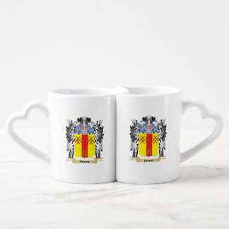 Book Coat of Arms - Family Crest Couples' Coffee Mug Set