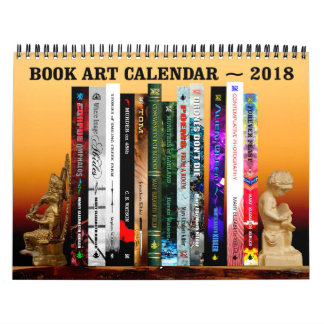 Book Cover Art Calendar - 2018