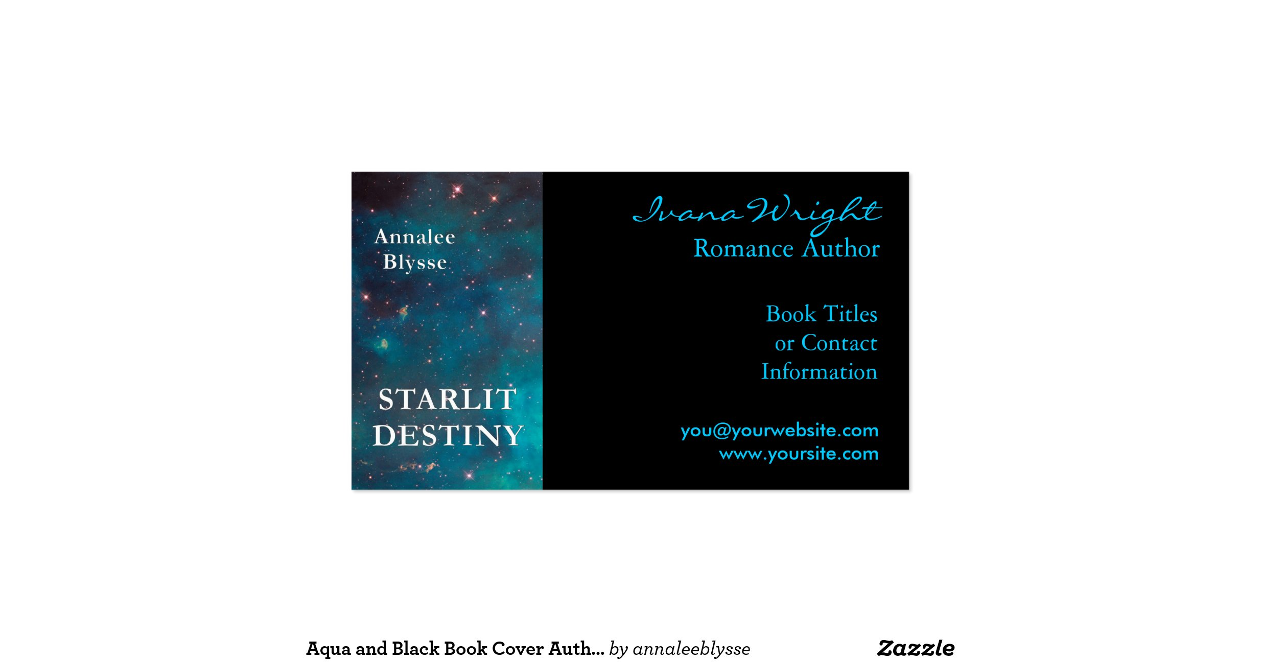 Book Cover Business Cards : Book cover author business card