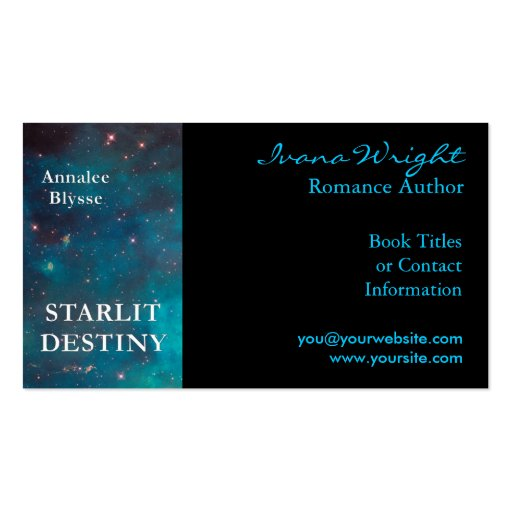 Book Cover Business Cards ~ Book cover author business card zazzle