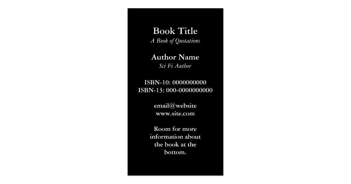 Book Cover Business Cards ~ Book cover business card zazzle