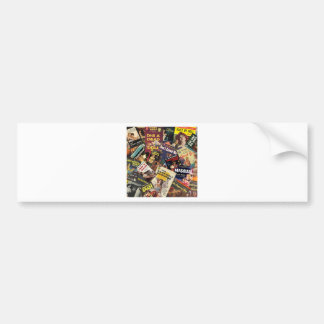 Book Cover Montage Bumper Sticker