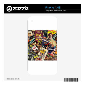 Book Cover Montage Skins For iPhone 4S