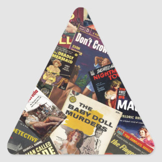 Book Cover Montage Triangle Sticker