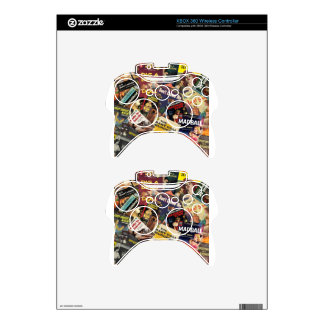 Book Cover Montage Xbox 360 Controller Skin