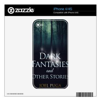 "Book cover of ""Dark Fantasies"" by Joel Puga Decals For iPhone 4S"