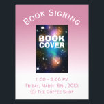 """Book Cover Signing Ombre Flyer<br><div class=""""desc"""">A simple customizable pink and white ombre flyer for your book signing that features your book&#39;s cover. You can reduce the image size if you need more room for location information. If you change the background color,  you will have a new gradient background.</div>"""