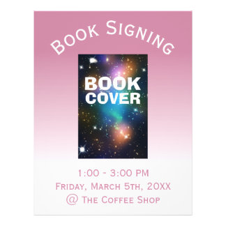 Book Cover Signing Ombre Flyer