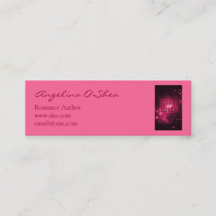 Book cover business cards zazzle book cover skinny business card reheart Image collections