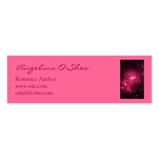 Book Cover Business Cards : Book cover skinny business card zazzle