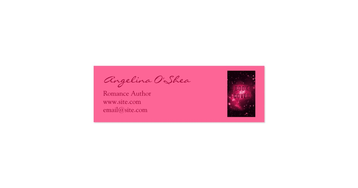 Book Cover Business Cards ~ Book cover skinny business card zazzle