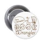 Book Cowboy Funny Librarian 2 Inch Round Button