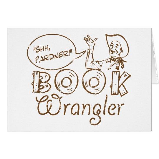 Book Cowboy Funny Librarian Card