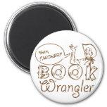 Book Cowboy Funny Librarian Fridge Magnet