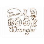 Book Cowboy Funny Librarian Postcard
