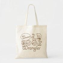Book Cowboy Funny Librarian Tote Bag