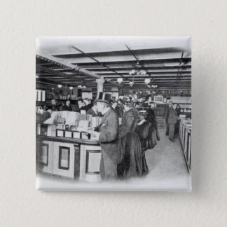 Book Department at an Army and Navy store Pinback Button