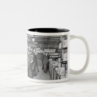 Book Department at an Army and Navy store Two-Tone Coffee Mug