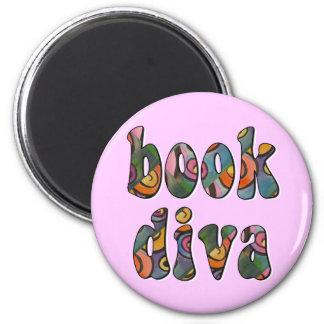 Book Diva 2 2 Inch Round Magnet