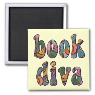 Book Diva 2 2 Inch Square Magnet